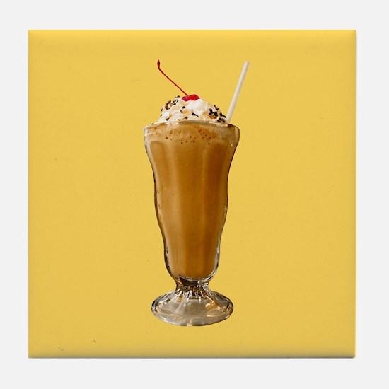 Chocolate Milkshake Tile Coaster