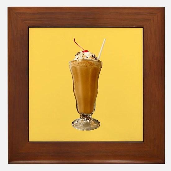 Chocolate Milkshake Framed Tile