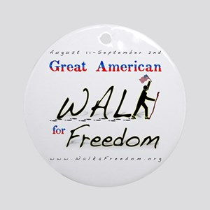 Great American Walk for Freed Ornament (Round)