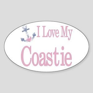i love my coastie Oval Sticker