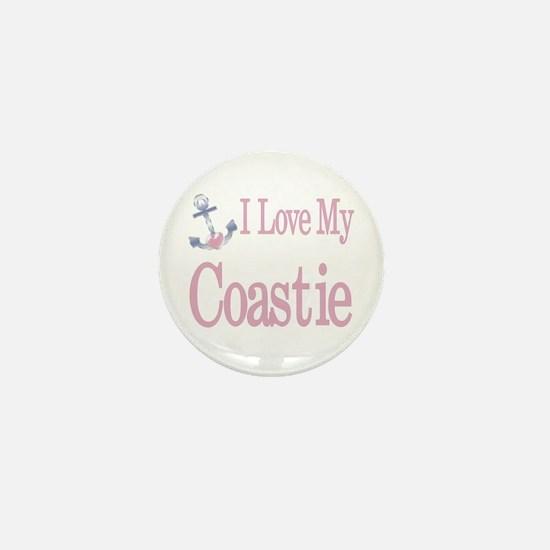 i love my coastie Mini Button