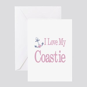 i love my coastie Greeting Card
