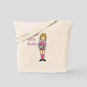Soccer Girls Rule Tote Bag