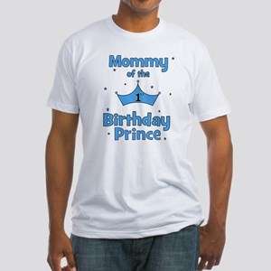 Mommy of the 1st Birthday Pri Fitted T-Shirt