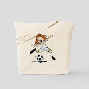 Happy Soccer Girl Tote Bag