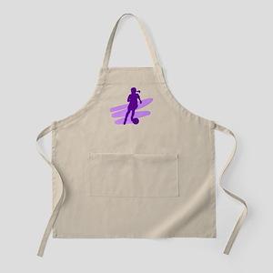 Purple Soccer Girl BBQ Apron