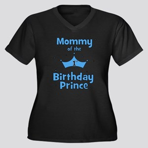 Mommy of the 1st Birthday Pri Women's Plus Size V-