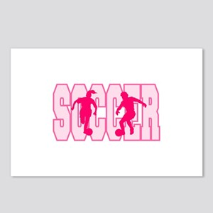 Pink Soccer Girl Logo Postcards (Package of 8)