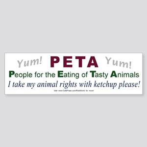 """PETA"" 4 Bumper Sticker"