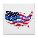 HAPPY BIRTHDAY, AMERICA Tile Coaster