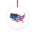 HAPPY BIRTHDAY, AMERICA Ornament (Round)