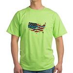 HAPPY BIRTHDAY, AMERICA Green T-Shirt
