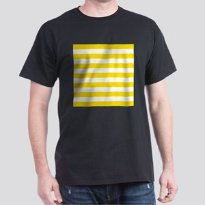Yellow and white horizontal stripes T-Shirt