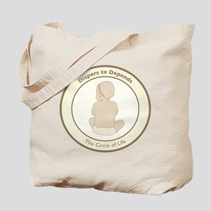 """""""Diapers to Depends"""" Tote Bag"""