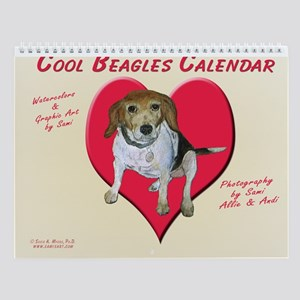 Cool Beagles Wall Calendar by Sami