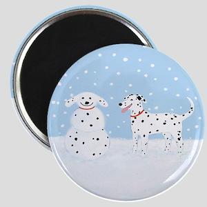 Dalmatian Snow Dog Magnet