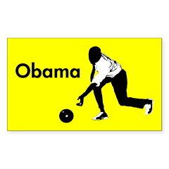 Obama Bowling Yellow Bumper Decal