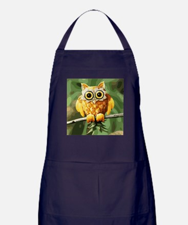 Pineapple Owl Apron (dark)