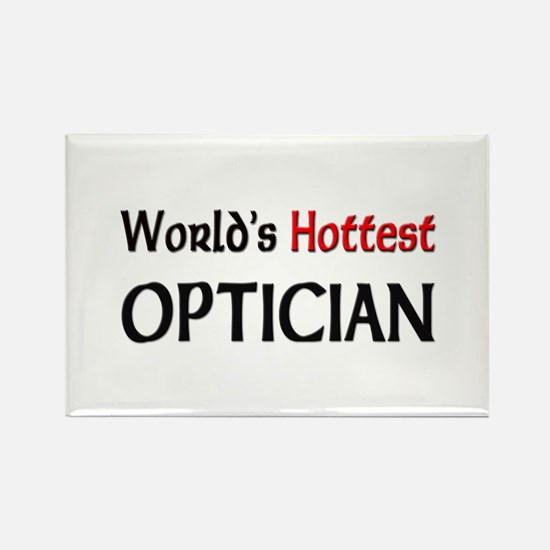 World's Hottest Optician Rectangle Magnet