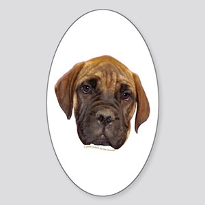 Bullmastiff Puppy Oval Sticker