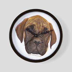 Bullmastiff Puppy Wall Clock