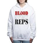 Bodybuilding Blood Sweat Women's Hooded Sweatshirt