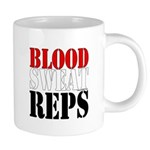 Bodybuilding Blood Sweat Re 20 oz Ceramic Mega Mug