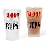 Bodybuilding Blood Sweat Reps Drinking Glass