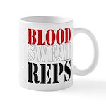 Bodybuilding Blood Sweat Reps 11 oz Ceramic Mug