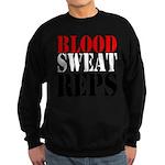 Bodybuilding Blood Sweat Reps Sweatshirt (dark)