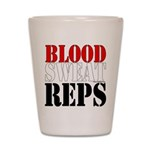 Bodybuilding Blood Sweat Reps Shot Glass