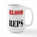 Bodybuilding Blood Sweat 15 oz Ceramic Large Mug