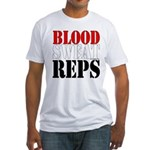 Bodybuilding Blood Sweat Reps Fitted T-Shirt