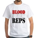 Bodybuilding Blood Sweat Re Men's Classic T-Shirts