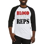 Bodybuilding Blood Sweat Reps Baseball Tee