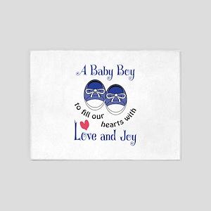 A Baby Boy 5'x7'Area Rug