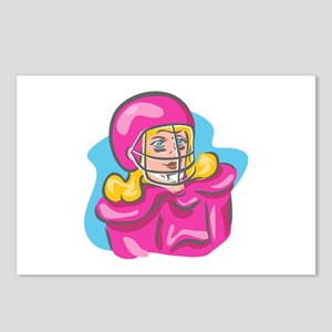 Football Girl in Pink Postcards (Package of 8)