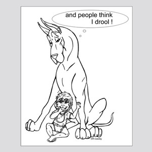 Great Dane w/ Baby Drool Small Poster