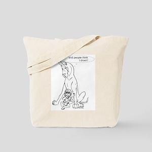 Great Dane w/ Baby Drool Tote Bag
