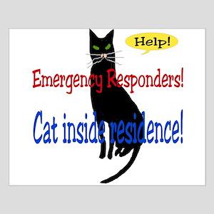 Single Cat Alert Small Poster