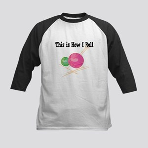 How I Roll (Yarn) Kids Baseball Jersey