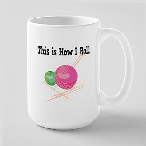 How I Roll (Yarn) Large Mug