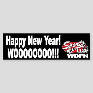 """WDFN """"Happy New Year"""" Black Sticker"""