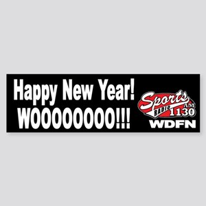 "WDFN ""Happy New Year"" Black Sticker"