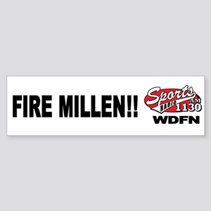 "WDFN ""Fire Millen"" White Sticker"