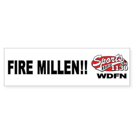 "WDFN ""Fire Millen"" White Sticker"
