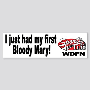 "WDFN ""First Bloody Mary"" White Sticker"