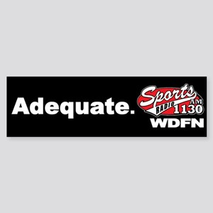 "WDFN ""Adequate"" Black Sticker"