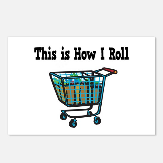 How I Roll (Shopping Cart) Postcards (Package of 8