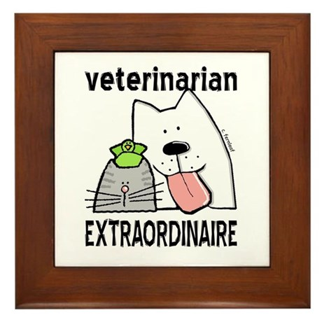 Veterinarian Extraordinaire Framed Tile